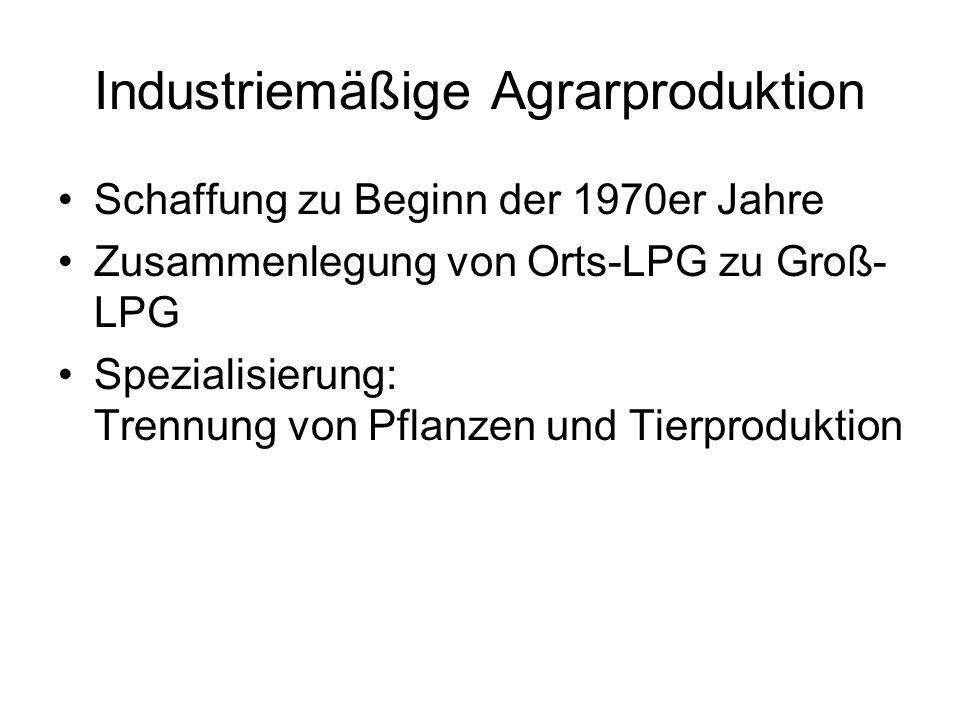 Industriemäßige Agrarproduktion