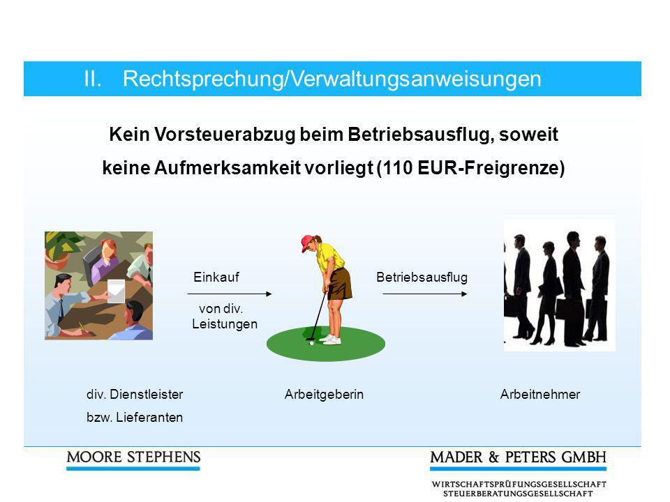 keine Aufmerksamkeit vorliegt (110 EUR-Freigrenze)