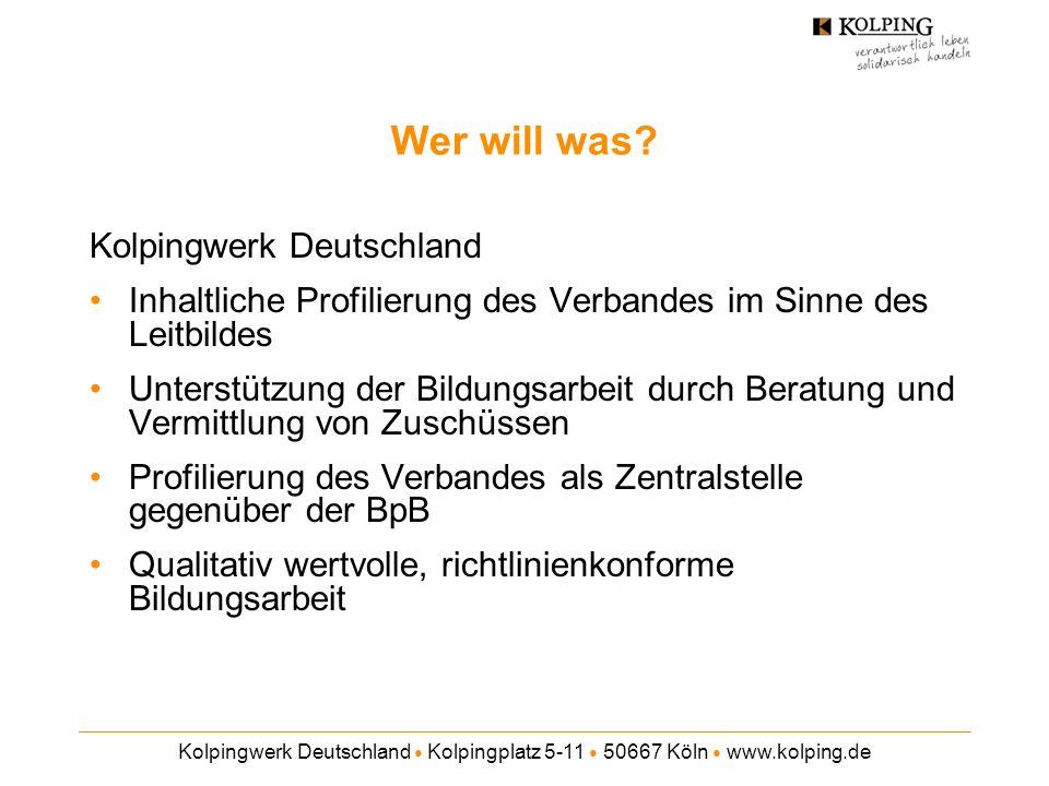 Wer will was Kolpingwerk Deutschland