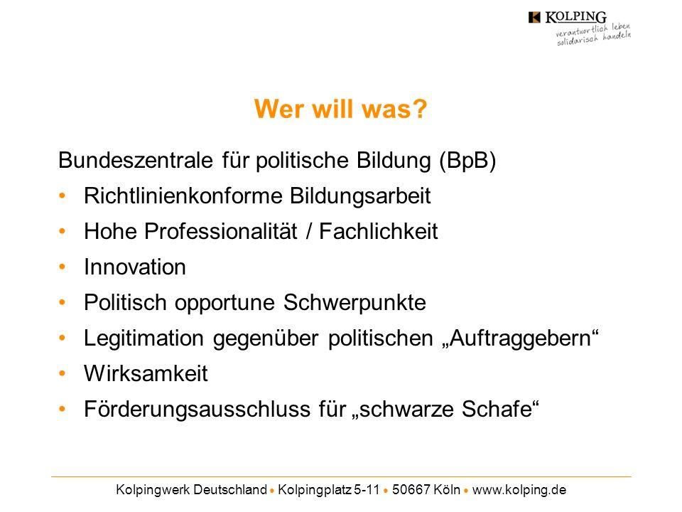 Wer will was Bundeszentrale für politische Bildung (BpB)