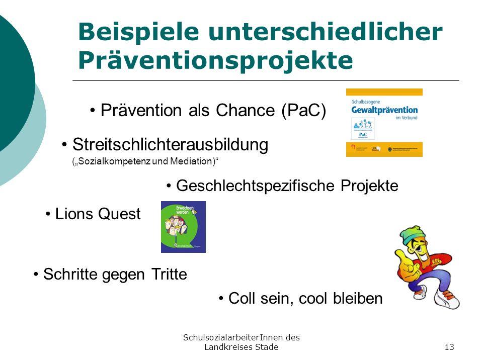 Beispiele unterschiedlicher Präventionsprojekte