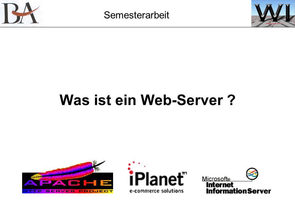 Was ist ein Web-Server