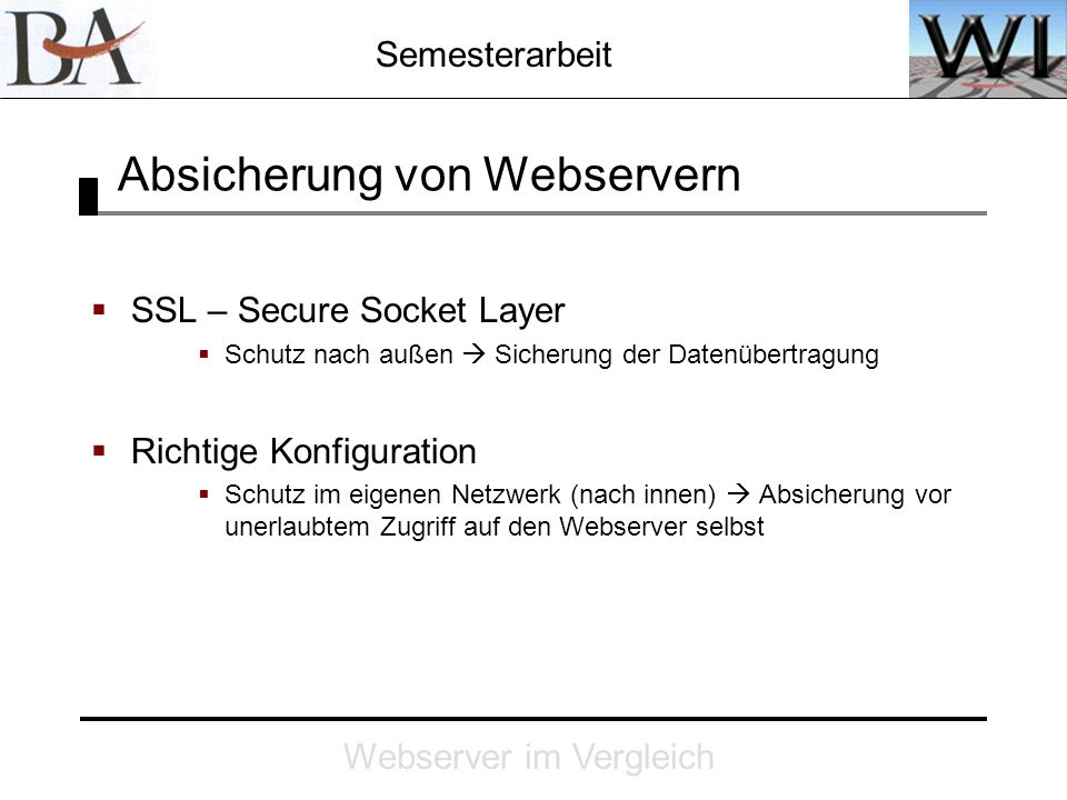 Absicherung von Webservern