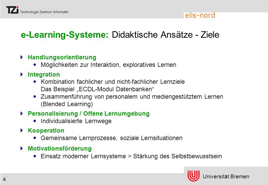 e-Learning-Systeme: Didaktische Ansätze - Ziele