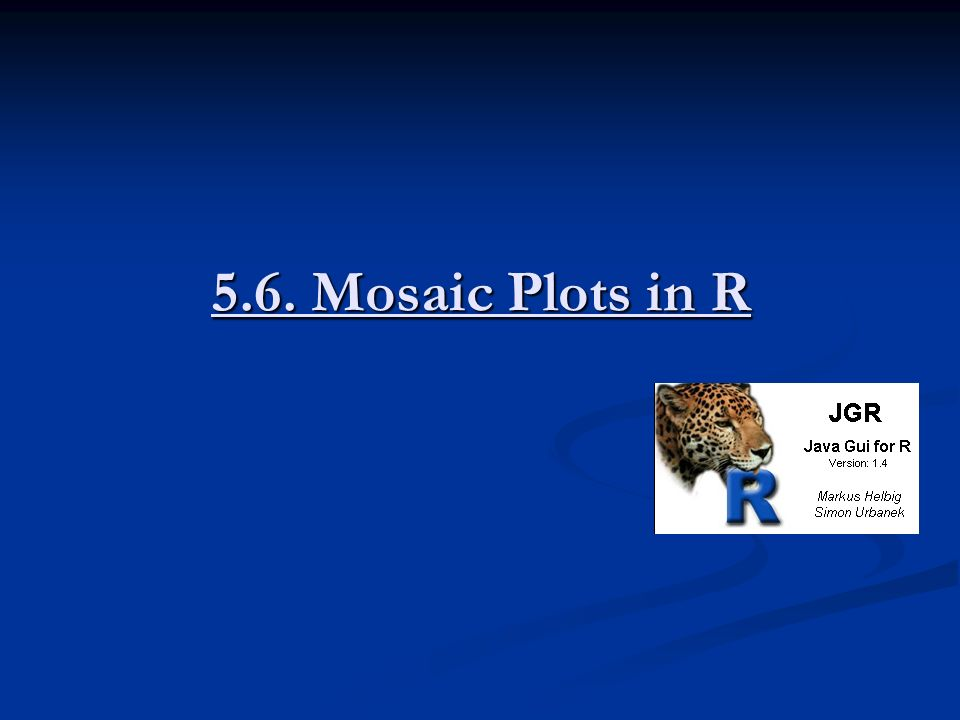 5.6. Mosaic Plots in R
