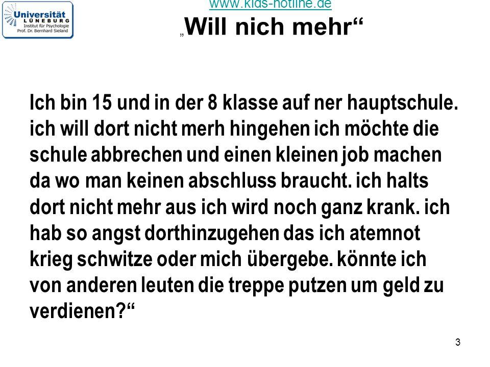 """www.kids-hotline.de """"Will nich mehr"""