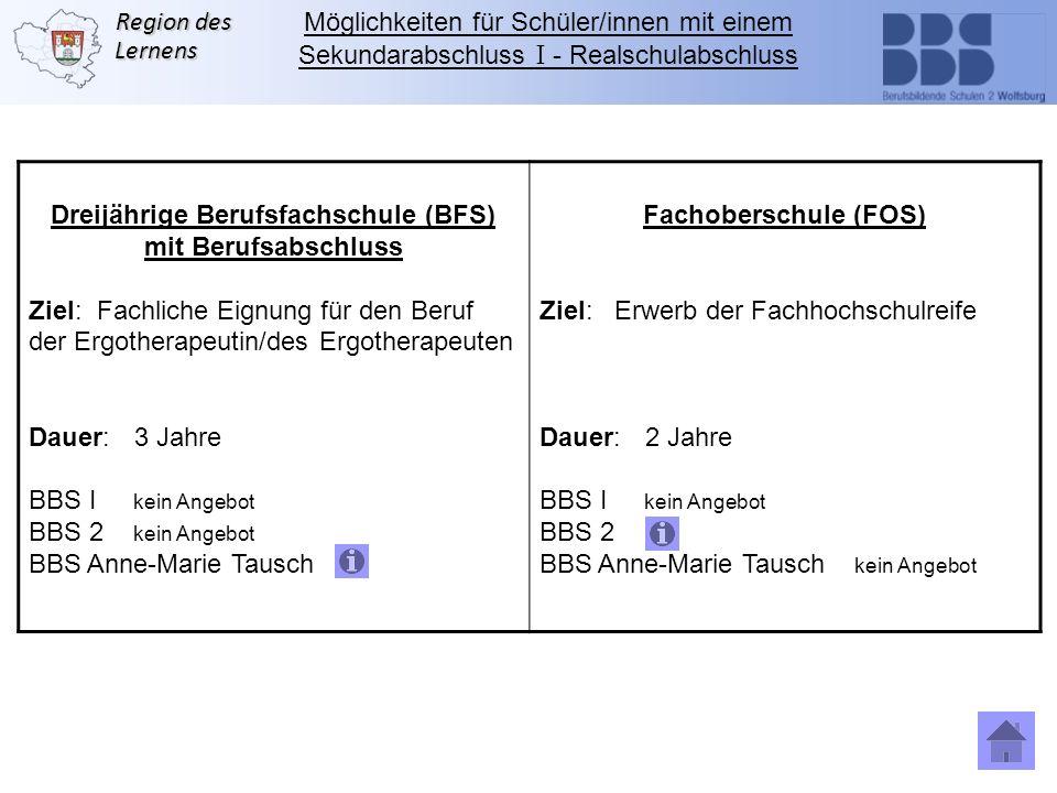 Dreijährige Berufsfachschule (BFS)