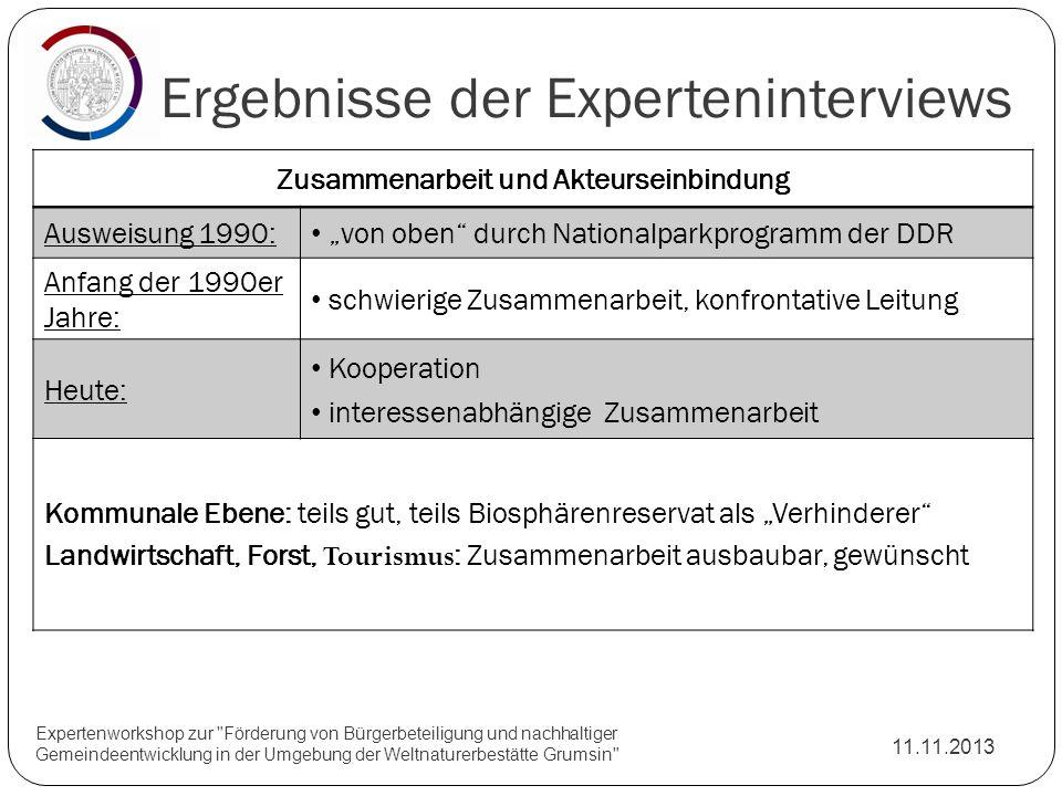 Ergebnisse der Experteninterviews