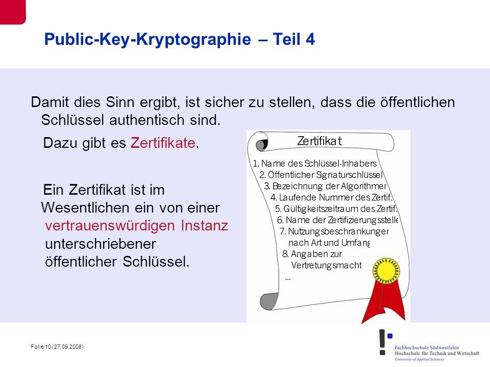 Public-Key-Kryptographie – Teil 4