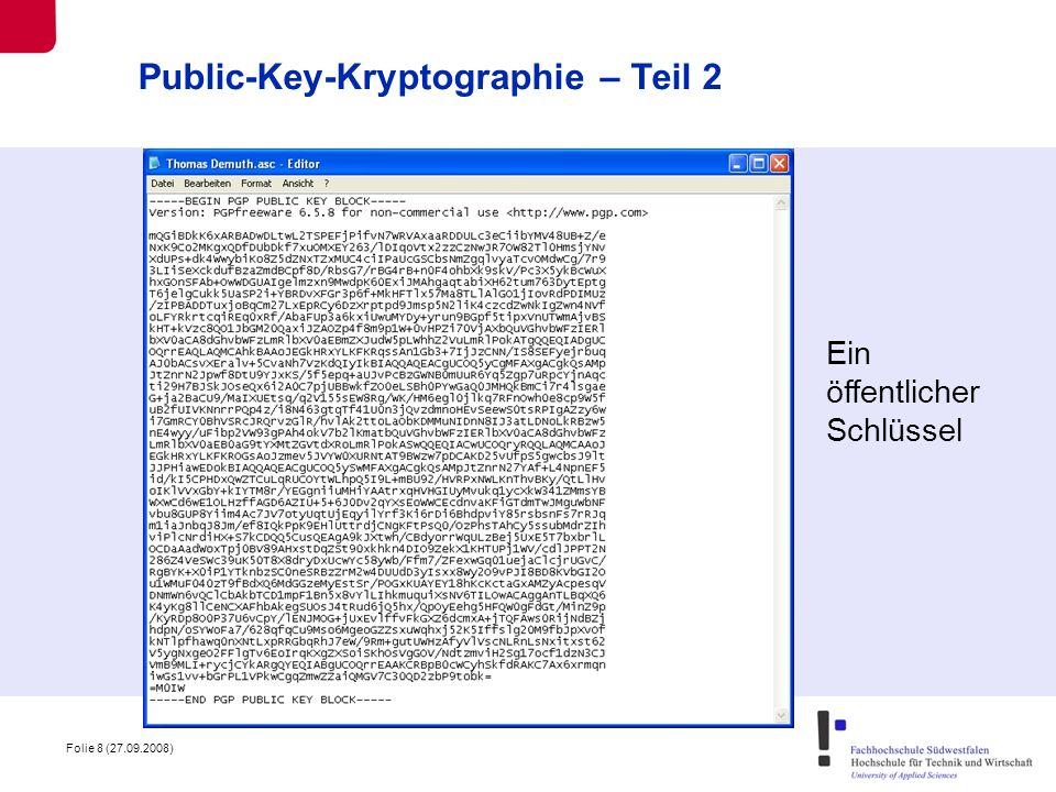 Public-Key-Kryptographie – Teil 2