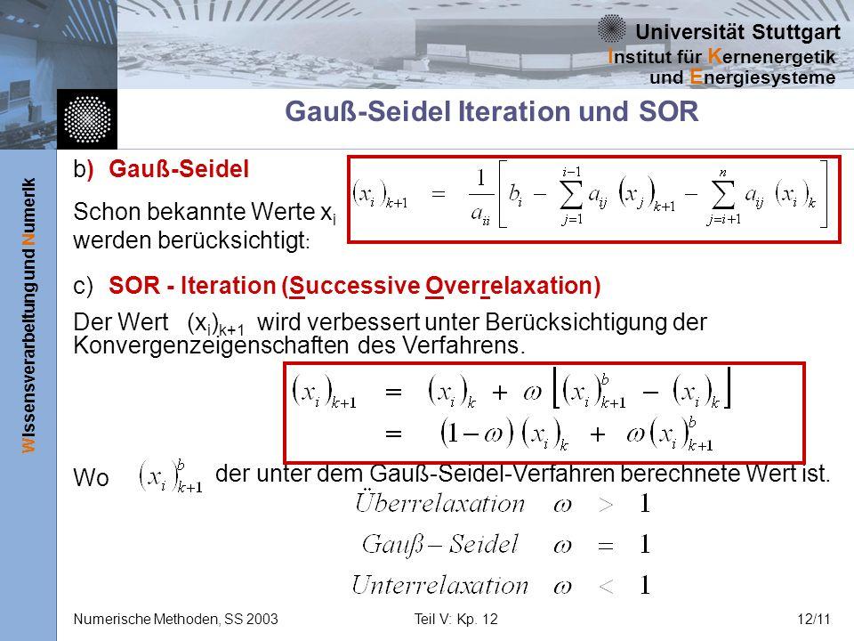 Gauß-Seidel Iteration und SOR