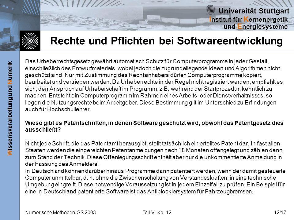 Rechte und Pflichten bei Softwareentwicklung