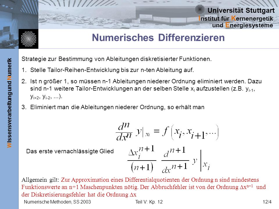 Numerisches Differenzieren