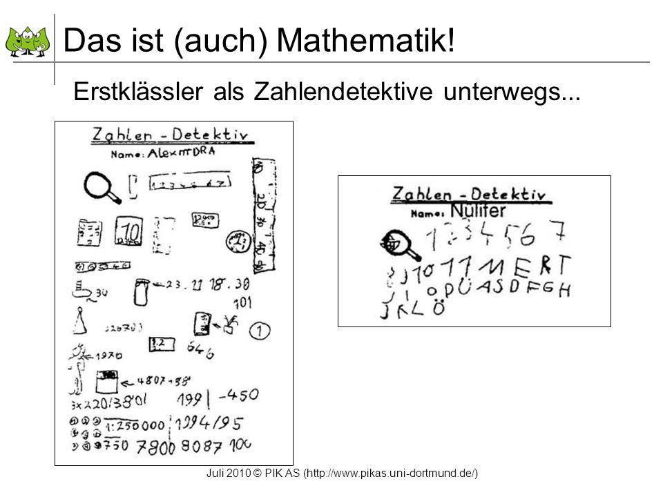 Das ist (auch) Mathematik!
