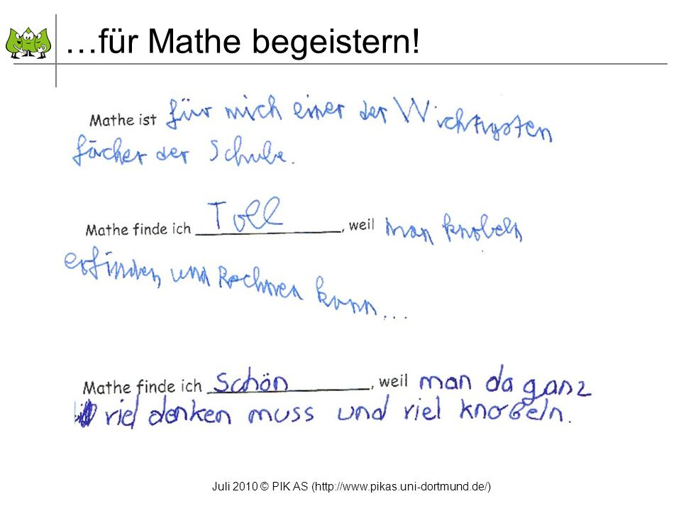 …für Mathe begeistern!