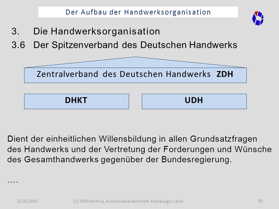 3. Die Handwerksorganisation
