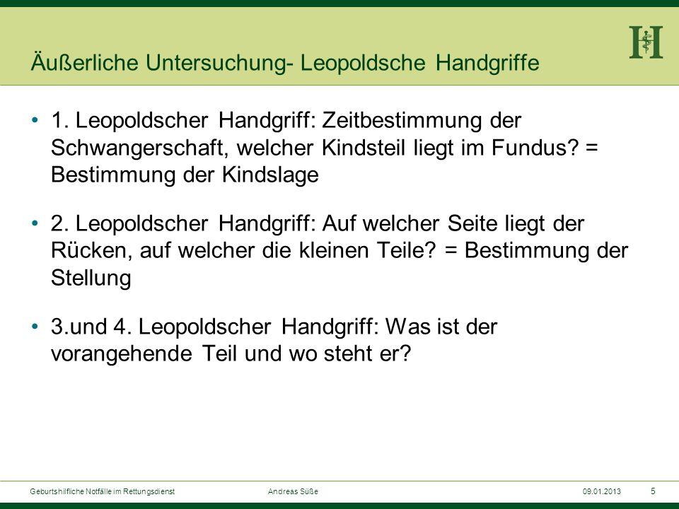 Äußerliche Untersuchung- Leopoldsche Handgriffe
