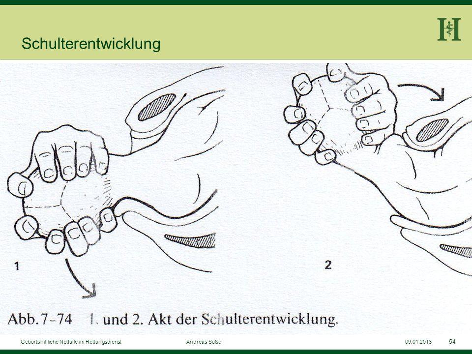 Schulterentwicklung Geburtshilfliche Notfälle im Rettungsdienst Andreas Süße.