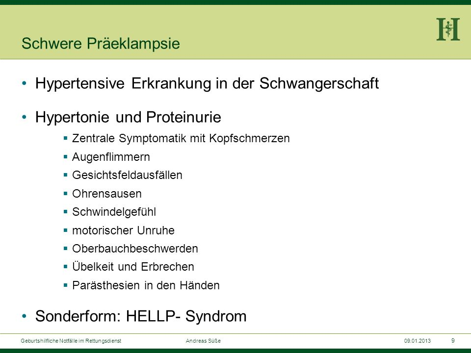 Hypertensive Erkrankung in der Schwangerschaft