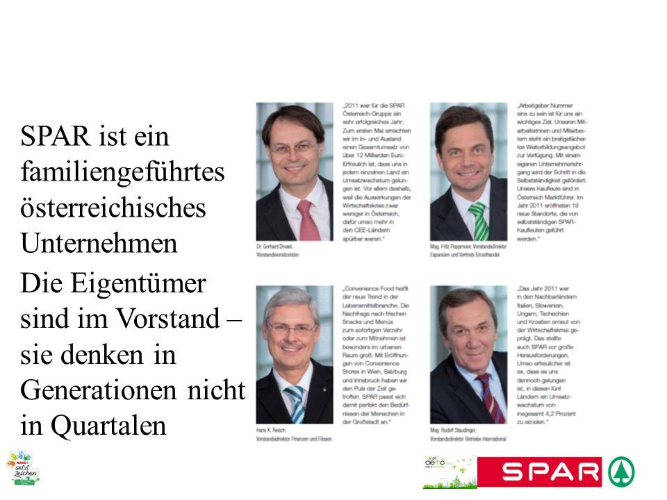 SPAR ist ein familiengeführtes österreichisches Unternehmen