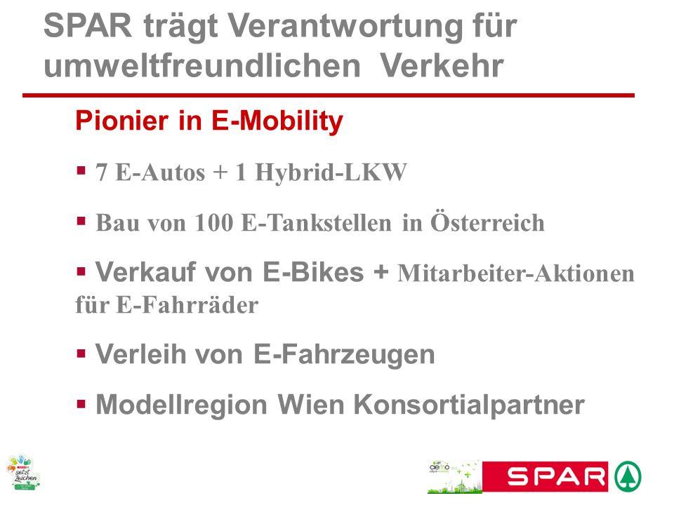 SPAR trägt Verantwortung für umweltfreundlichen Verkehr