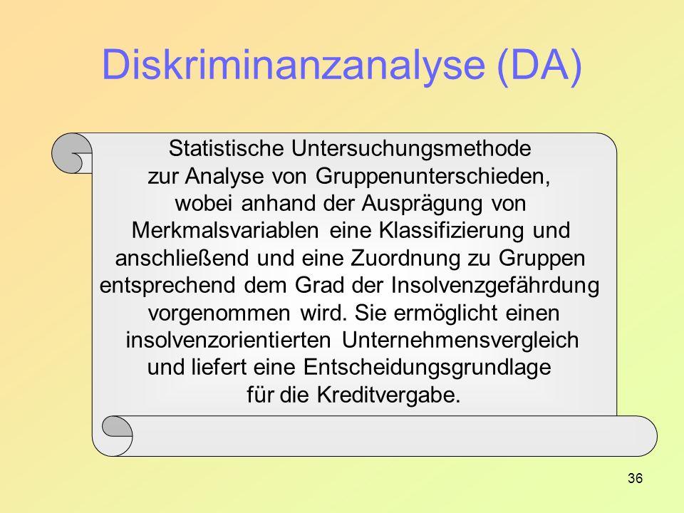 Diskriminanzanalyse (DA)