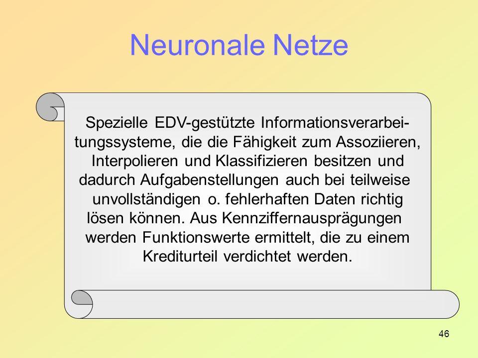 Neuronale Netze Spezielle EDV-gestützte Informationsverarbei-