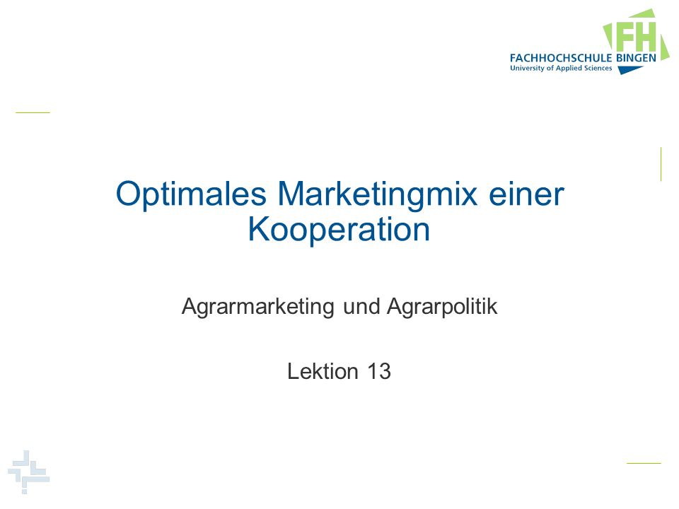Optimales Marketingmix einer Kooperation