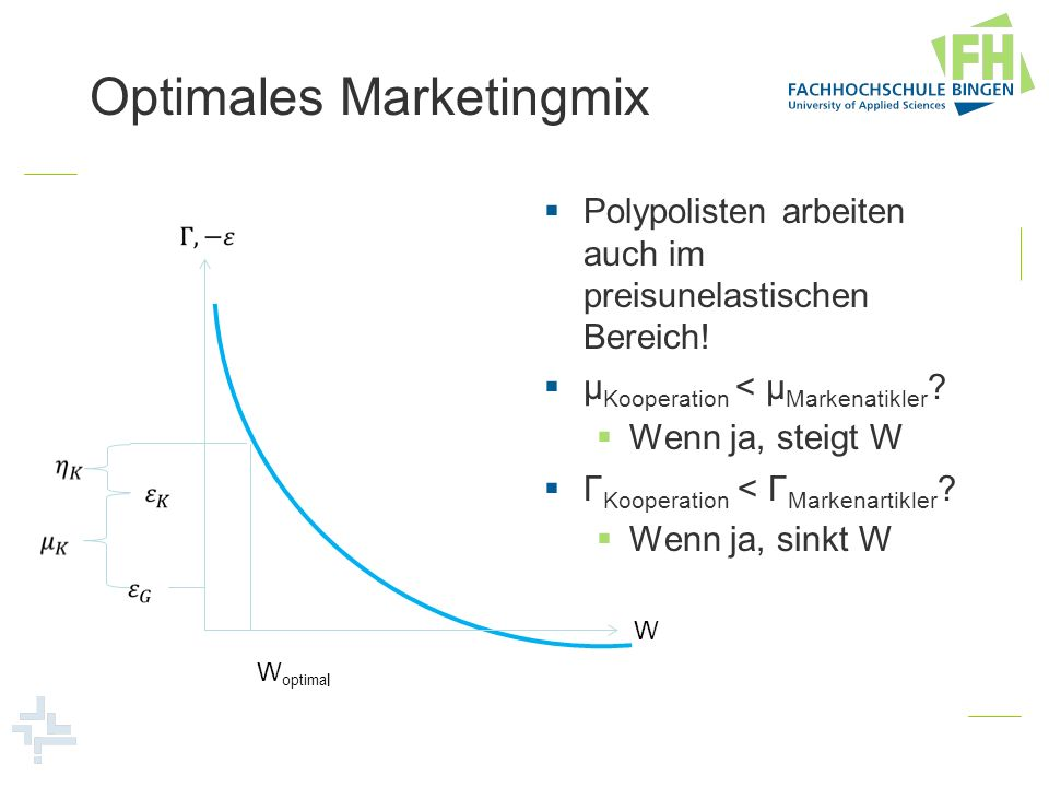 Optimales Marketingmix