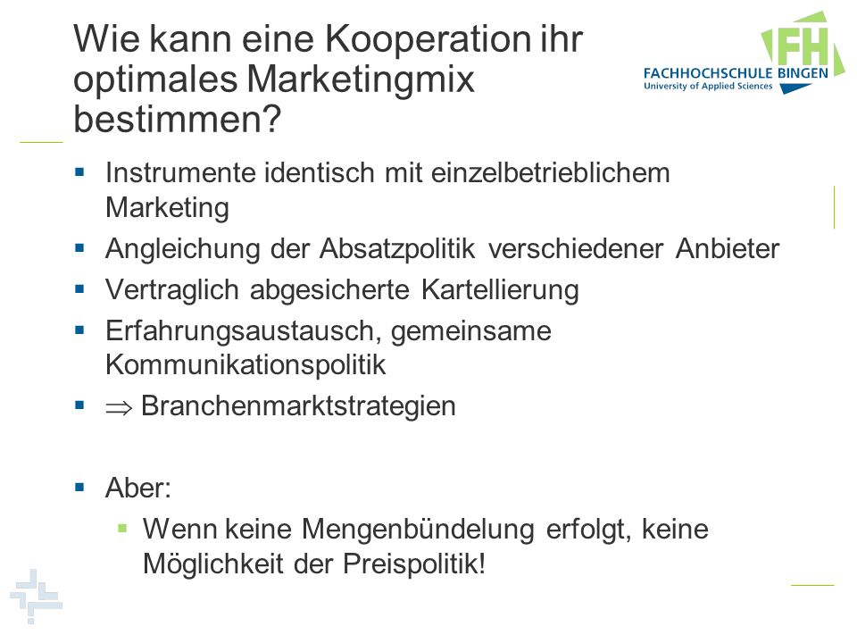 Wie kann eine Kooperation ihr optimales Marketingmix bestimmen