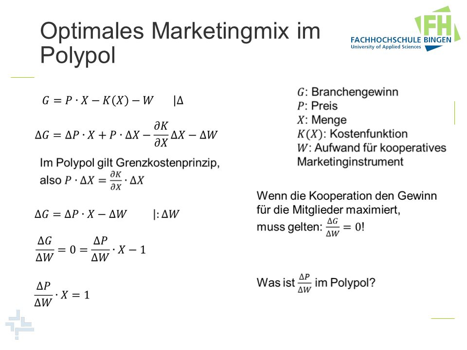 Optimales Marketingmix im Polypol