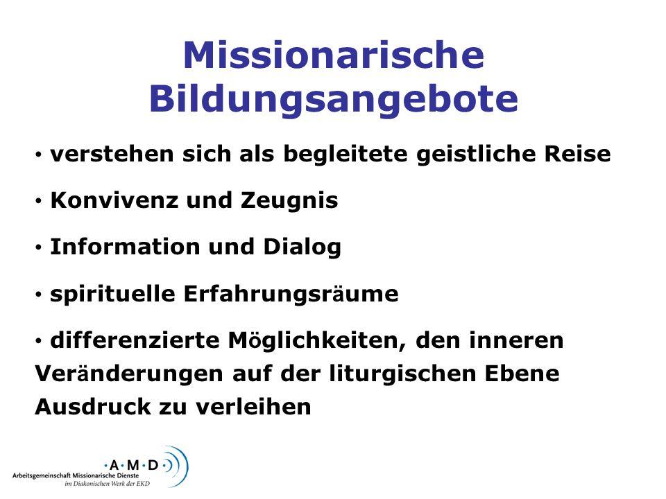 Missionarische Bildungsangebote