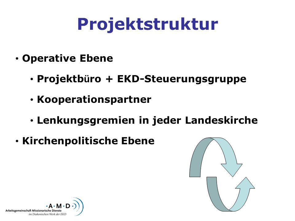 Projektstruktur Operative Ebene Projektbüro + EKD-Steuerungsgruppe