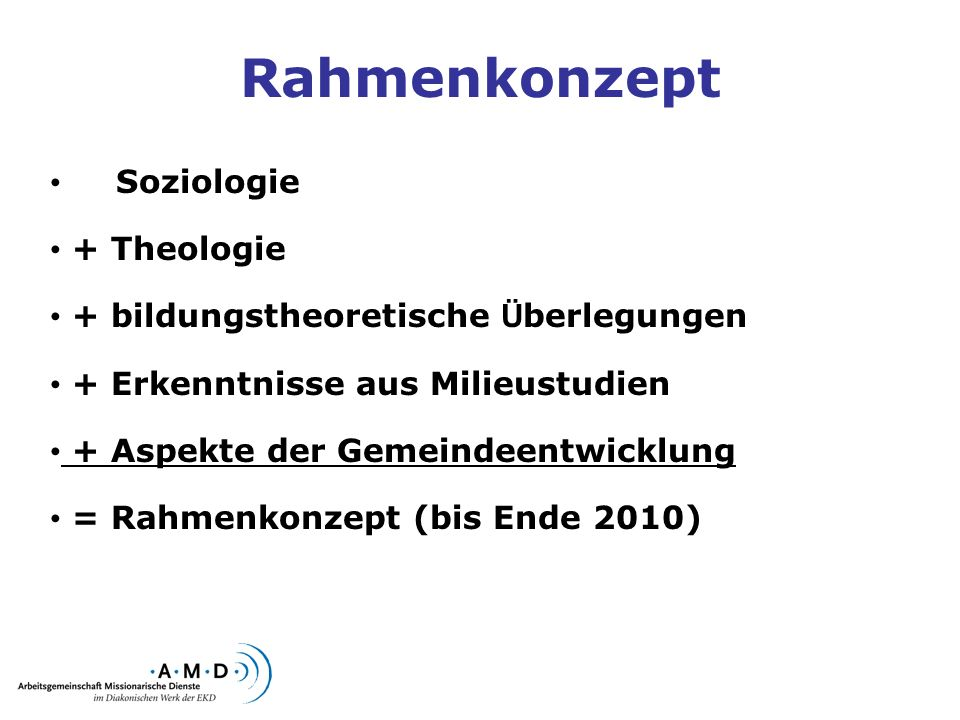 Rahmenkonzept Soziologie + Theologie