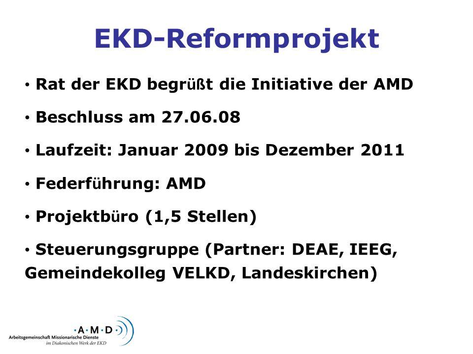 EKD-Reformprojekt Rat der EKD begrüßt die Initiative der AMD