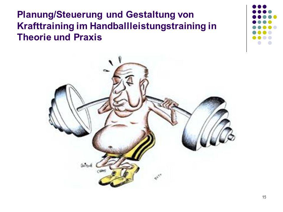 Planung/Steuerung und Gestaltung von Krafttraining im Handballleistungstraining in Theorie und Praxis