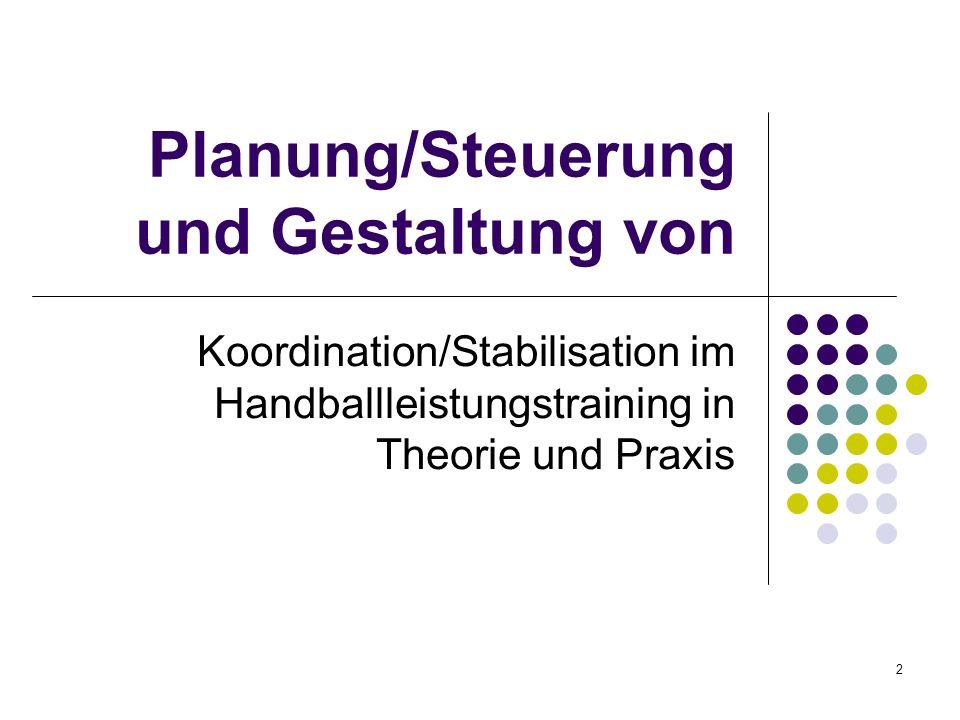 Planung/Steuerung und Gestaltung von
