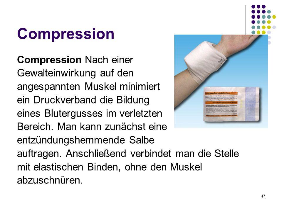 Compression Compression Nach einer Gewalteinwirkung auf den