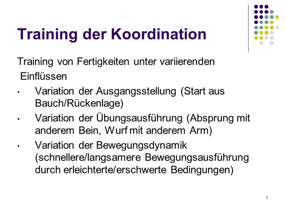 Training der Koordination