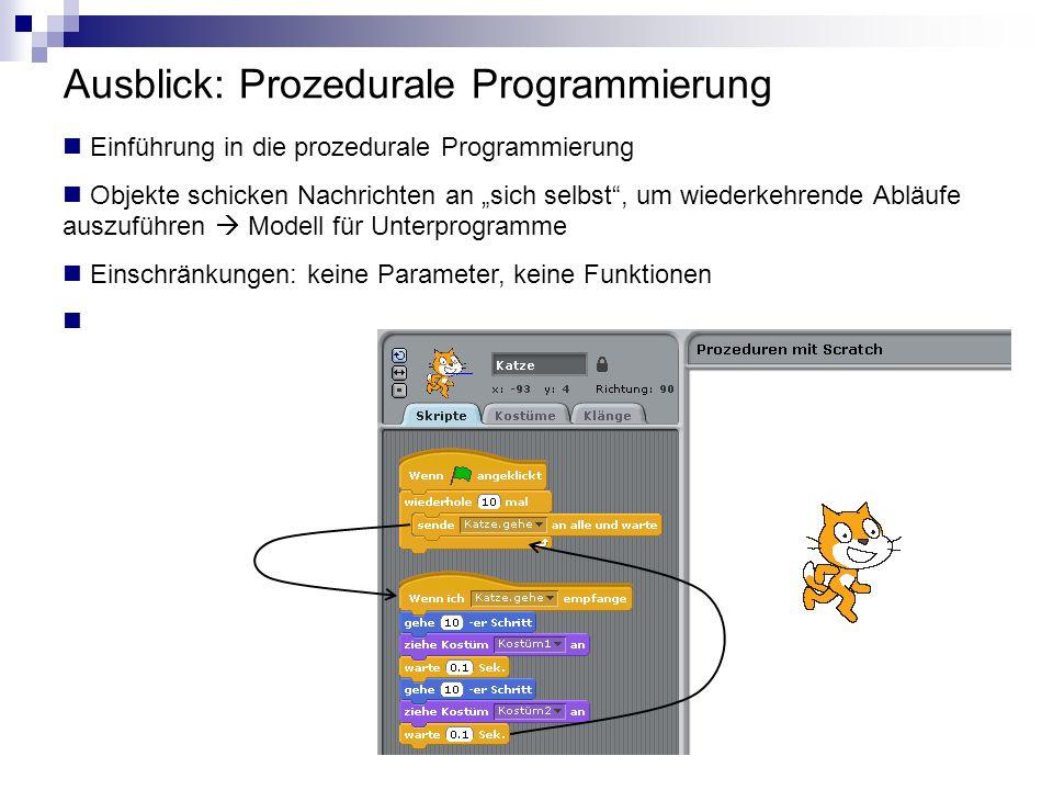 Ausblick: Prozedurale Programmierung