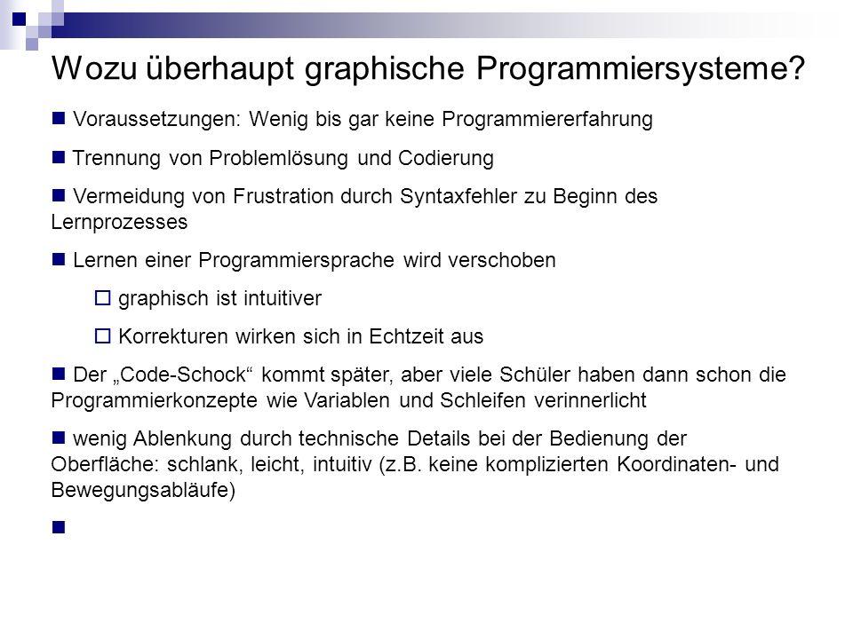 Wozu überhaupt graphische Programmiersysteme