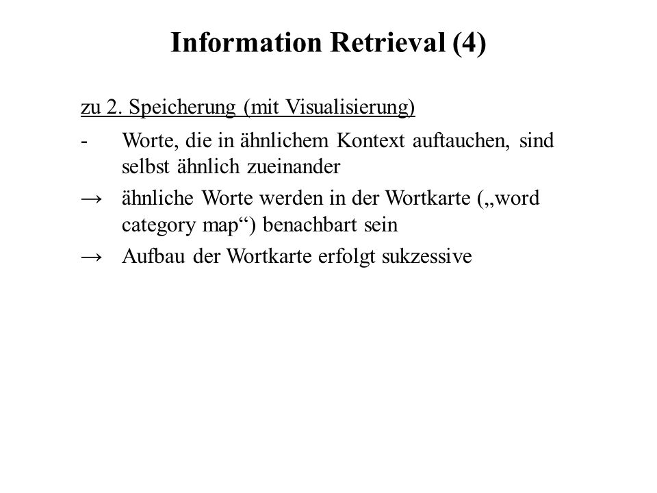 Information Retrieval (4)
