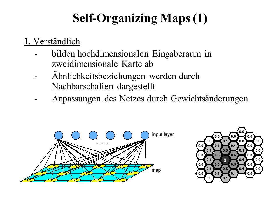 Self-Organizing Maps (1)