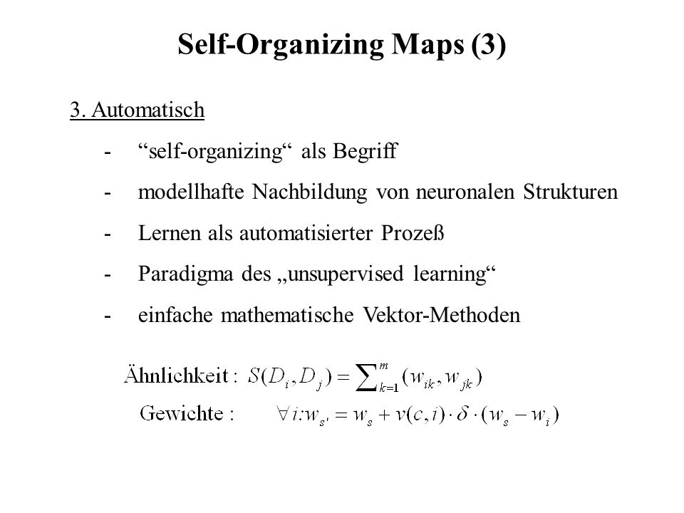 Self-Organizing Maps (3)