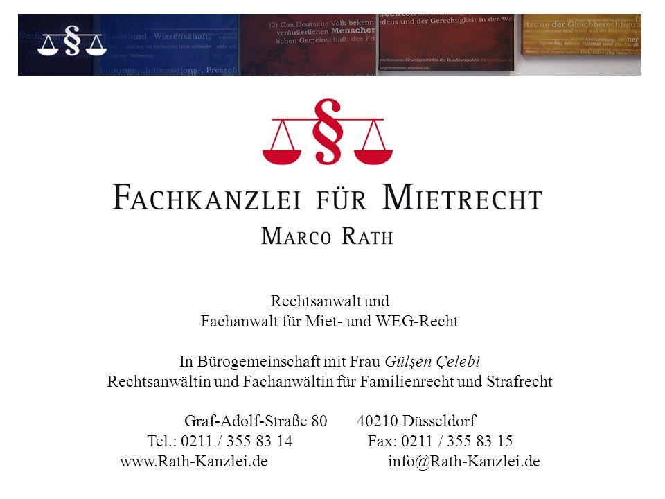 Fachanwalt für Miet- und WEG-Recht