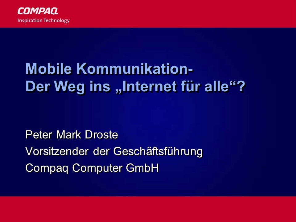 """Mobile Kommunikation- Der Weg ins """"Internet für alle"""