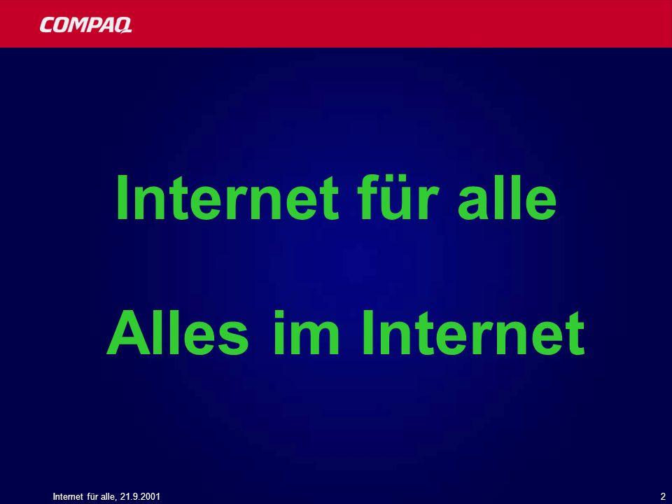 Internet für alle Alles im Internet