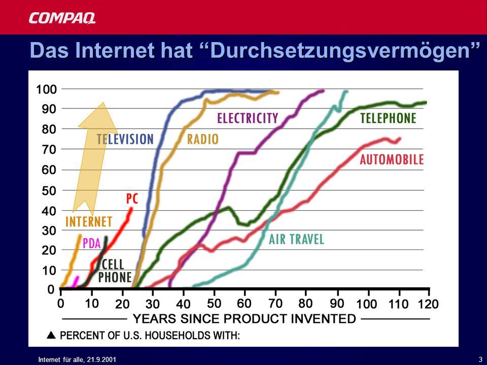 Das Internet hat Durchsetzungsvermögen