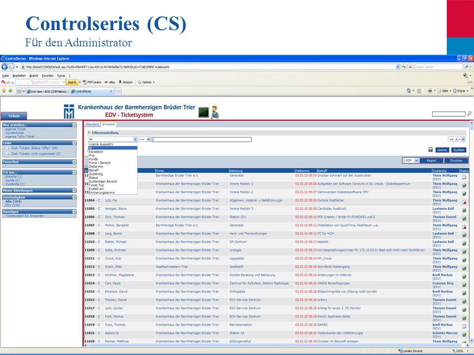 Controlseries (CS) Für den Administrator