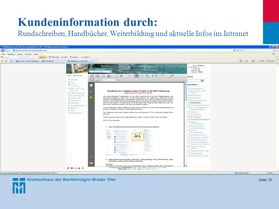 Kundeninformation durch: